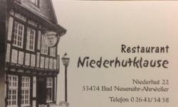 Restaurant Niederhutklause