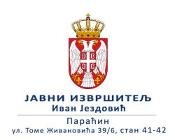 Ivan Jezdović Javni izvršitelj Paraćin